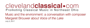 Cleveland Classical article